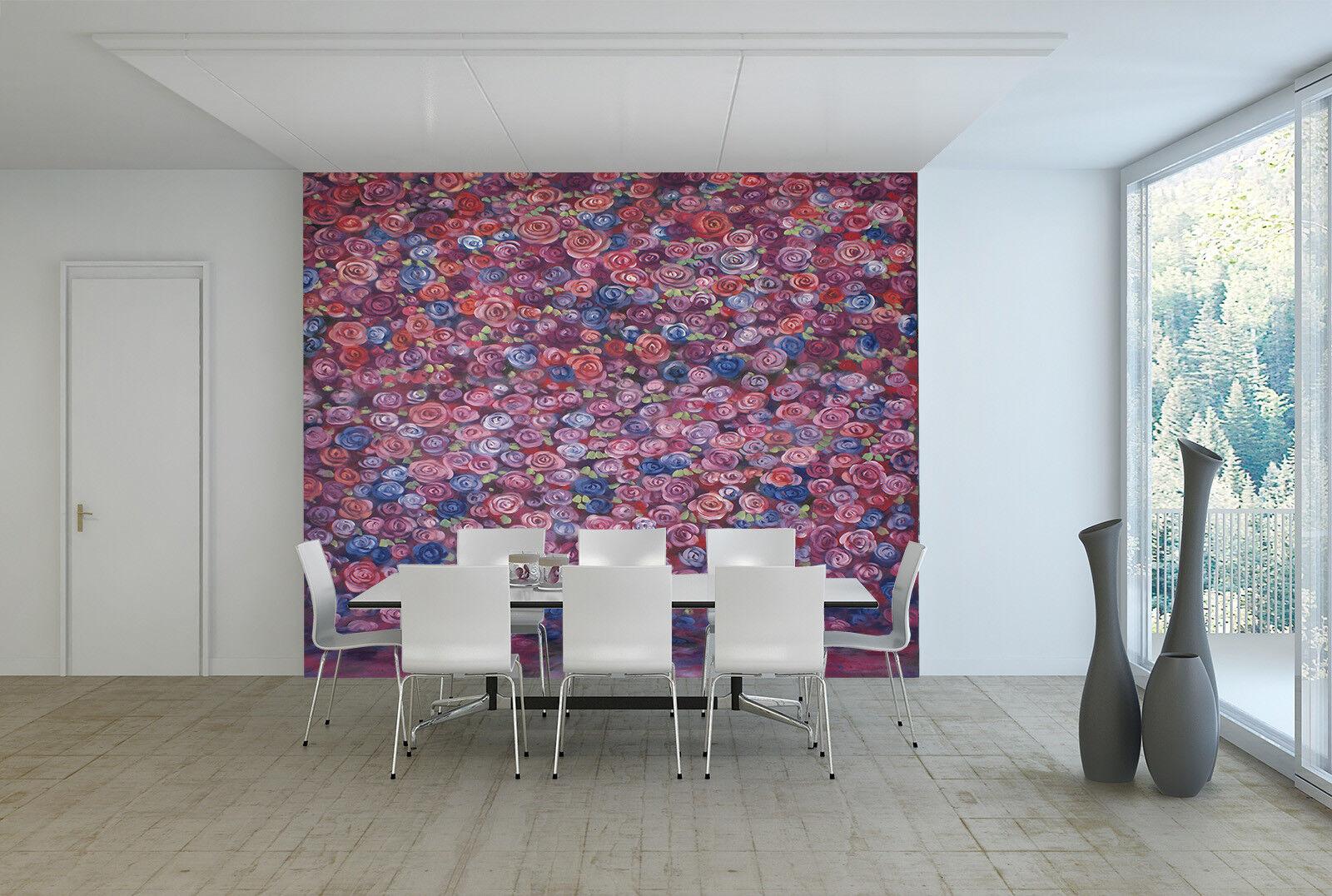3D Handbemalte Rosen 95 Tapete Wandgemälde Tapete Tapeten Bild Familie DE Summer