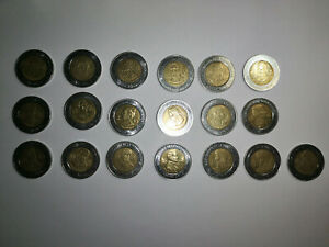MEXICO COIN PESO 2010 BIMETALLIC $5 INDEPENDENCE SET 19 COINS AZTEC SUN STONE