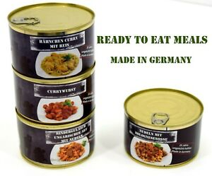 German-Army-MRE-400g-Food-Tinned-Meal-Military-Rations-Camping-Outdoor-Survival