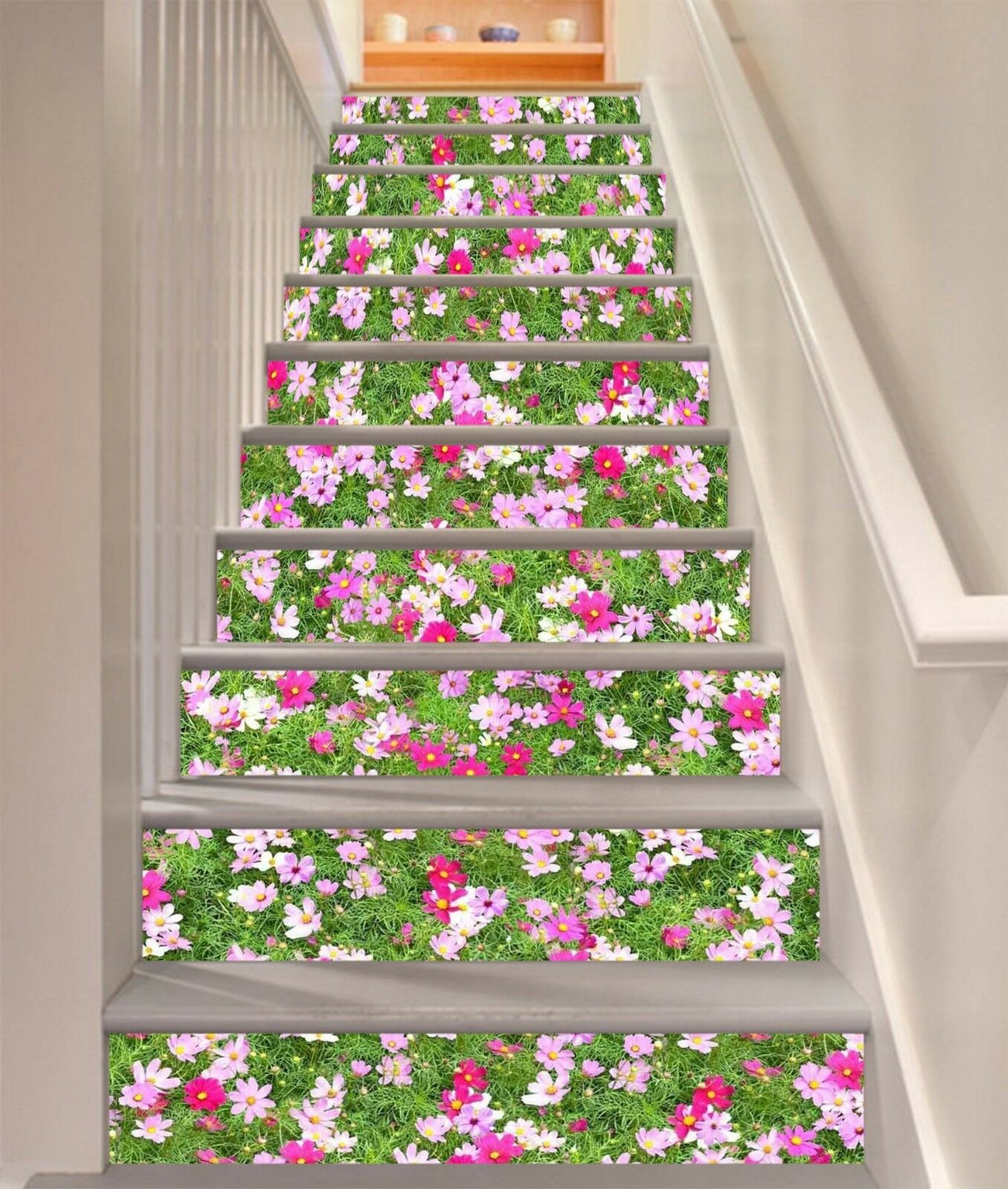 3D Flowers Field 12 Stair Risers Decoration Photo Mural Vinyl Decal Wallpaper CA