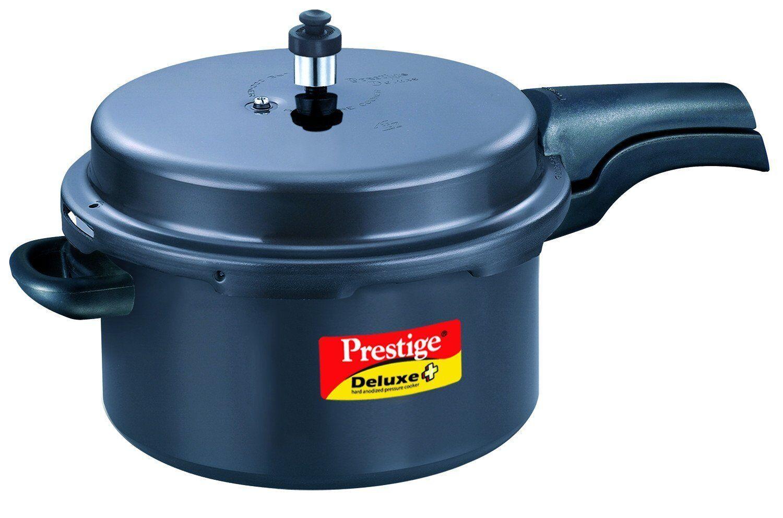 Prestige Deluxe Plus Hard Anodised 7.5-Liter Pressure Cooker