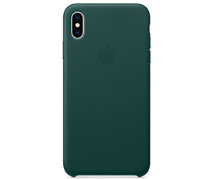 Apple-Echt-Original-Leder-Huelle-Leather-Case-iPhone-XS-5-8-Waldgruen