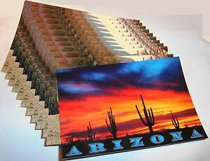 1-dozen-assorted-Arizona-Post-Cards-pictures-show-included-cards-assortment-9