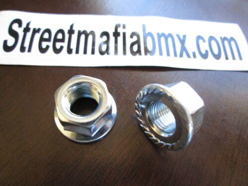 """2 BMX BIKE WHEEL AXLE NUTS 10mm 3//8th/"""" 26tpi silver FIT ALL BIKE MTB CRUISER NEW"""