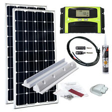 200W Wohnmobil Caravan Solaranlage Mono 12V Solar Set LCD Laderegler TOP PREIS !