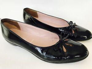 AMALFI-Nordstrom-Womens-Slip-On-Pumps-Flats-Shoes-Size-8-5-B-Black-Leather-ITALY