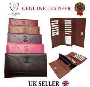 Ladies-Designer-J-Wilson-Genuine-Leather-Wallet-Women-Quality-Clutch-Purse-Card