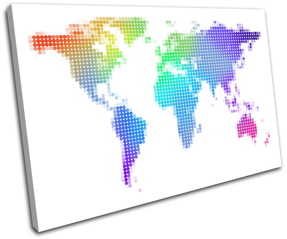 World Atlas Abstract Maps Flags SINGLE TELA parete parete parete arte foto stampa ff972d