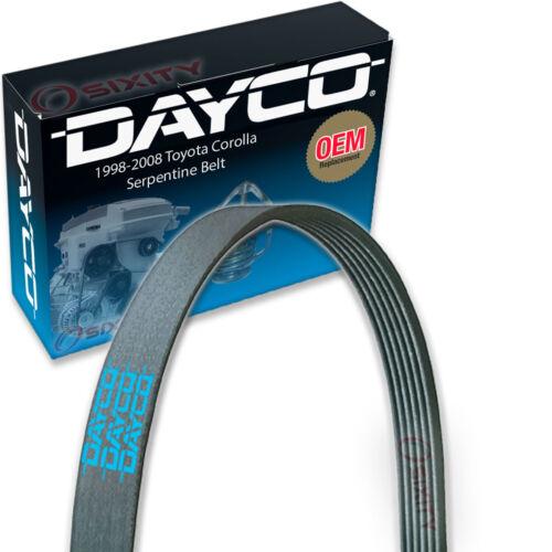 V Belt Ribbed yy Dayco Serpentine Belt for 1998-2008 Toyota Corolla 1.8L L4