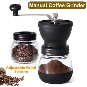 Manual Coffee Grinder Grinding Milling Bean Nut Spice Matte Blade Blender Black