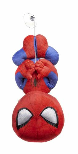 """OFFICIAL MARVEL COMICS SPIDERMAN ON WEB SUCTION PAD 12/"""" SOFT TOY PLUSH TEDDY"""