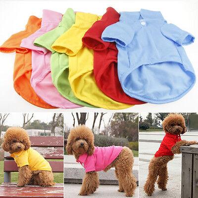 Pet Puppy Summer Polo Shirt Small Dog Cat Pet Clothes Costume Apparel T-Shirt