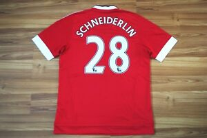 22c46c5ec Image is loading SIZE-M-MANCHESTER-UNITED-2015-2016-HOME-FOOTBALL-