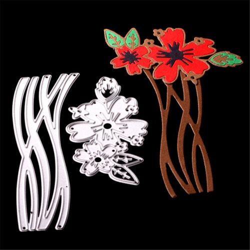 Blumen Spitze Metall Stanzformen Schablonen für Scrapbooking Album Karten PDH