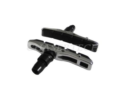 New MTB Bicycle Bike V-Brake Hollow Bracket Cartridge Pads Shoes Silver 1 Pair