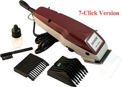 MOSER 1400 Classic Professional Corded Hair Clipper 7 Click 4mm + 4-18mm Comb