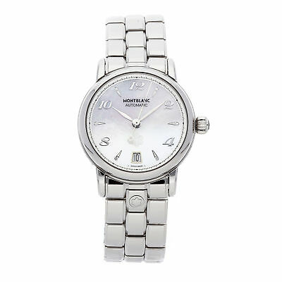 Montblanc Star Date Stainless Steel Automatic Bracelet Watch 107117
