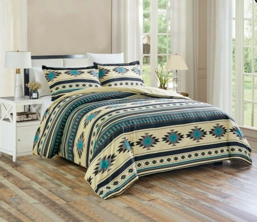 3 Piece Comforter Southwestern Tribal Startseitelet Bettspread Quilt Set All Größe Gift