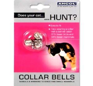 CAT-BELLS-x3-pack-Ancol-Silver-Metal-Bell-for-Collars-bp-Pet-Kitten-3-pk