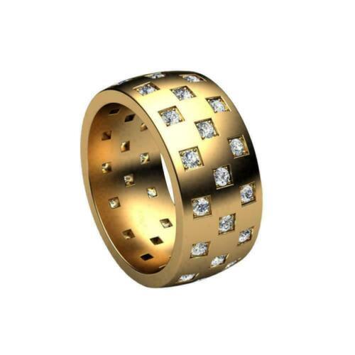 Damen Luxus minimalistischen geometrischen Ring Ehering Neu Geschenk M2G6 T9B8