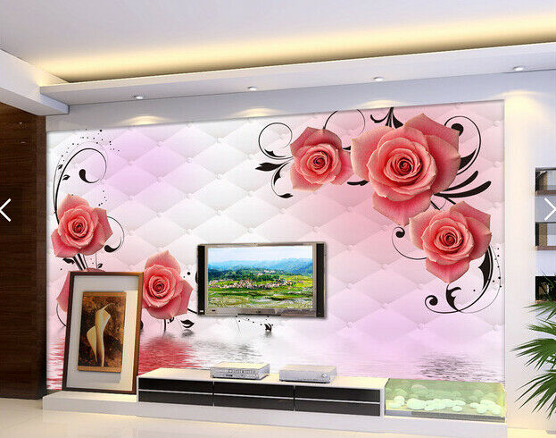 3D Flower Water 724 Wallpaper Mural Paper Wall Print Wallpaper Murals UK Carly