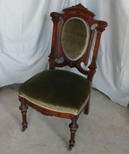 Superbe Image Is Loading Antique Victorian Rosewood Side Chair With Inlay With