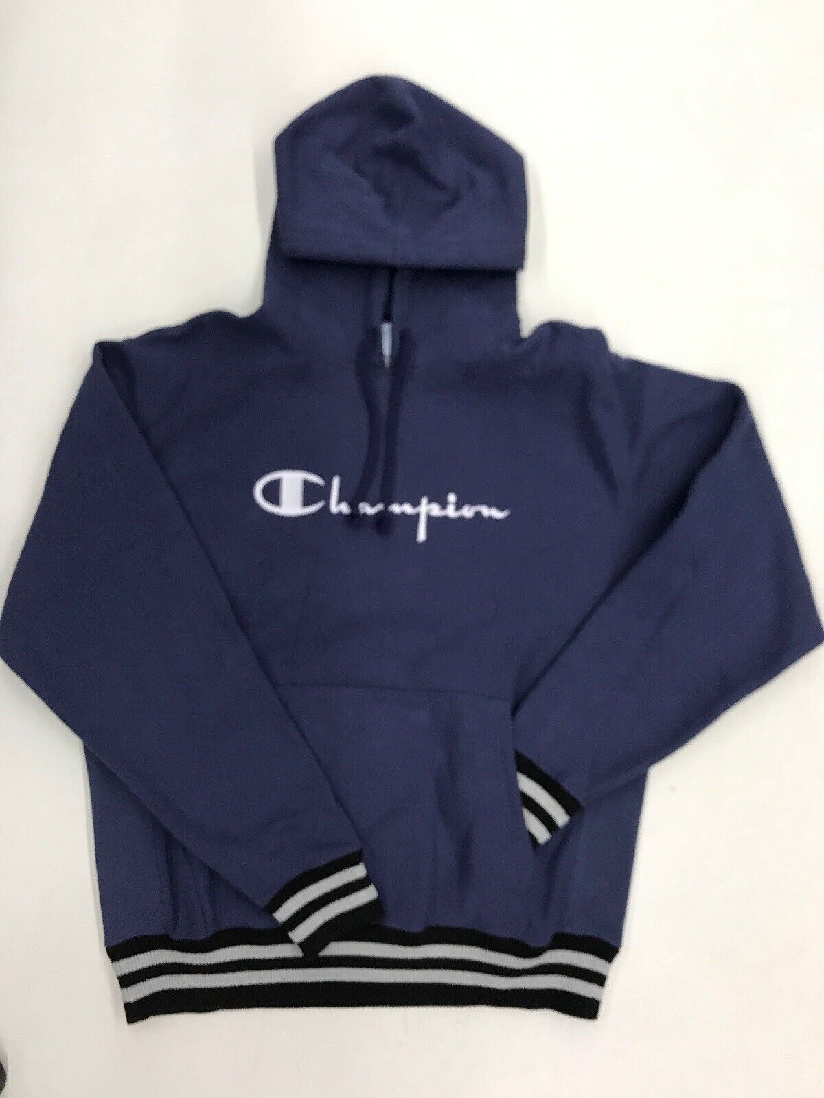 Champion Faded Navy Reverse Weave Mens Sample Large Nice New Rare One Of One