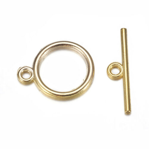 031 10 Round Plain Toggle Sets Clasps Jewellery Making Pick A Colour