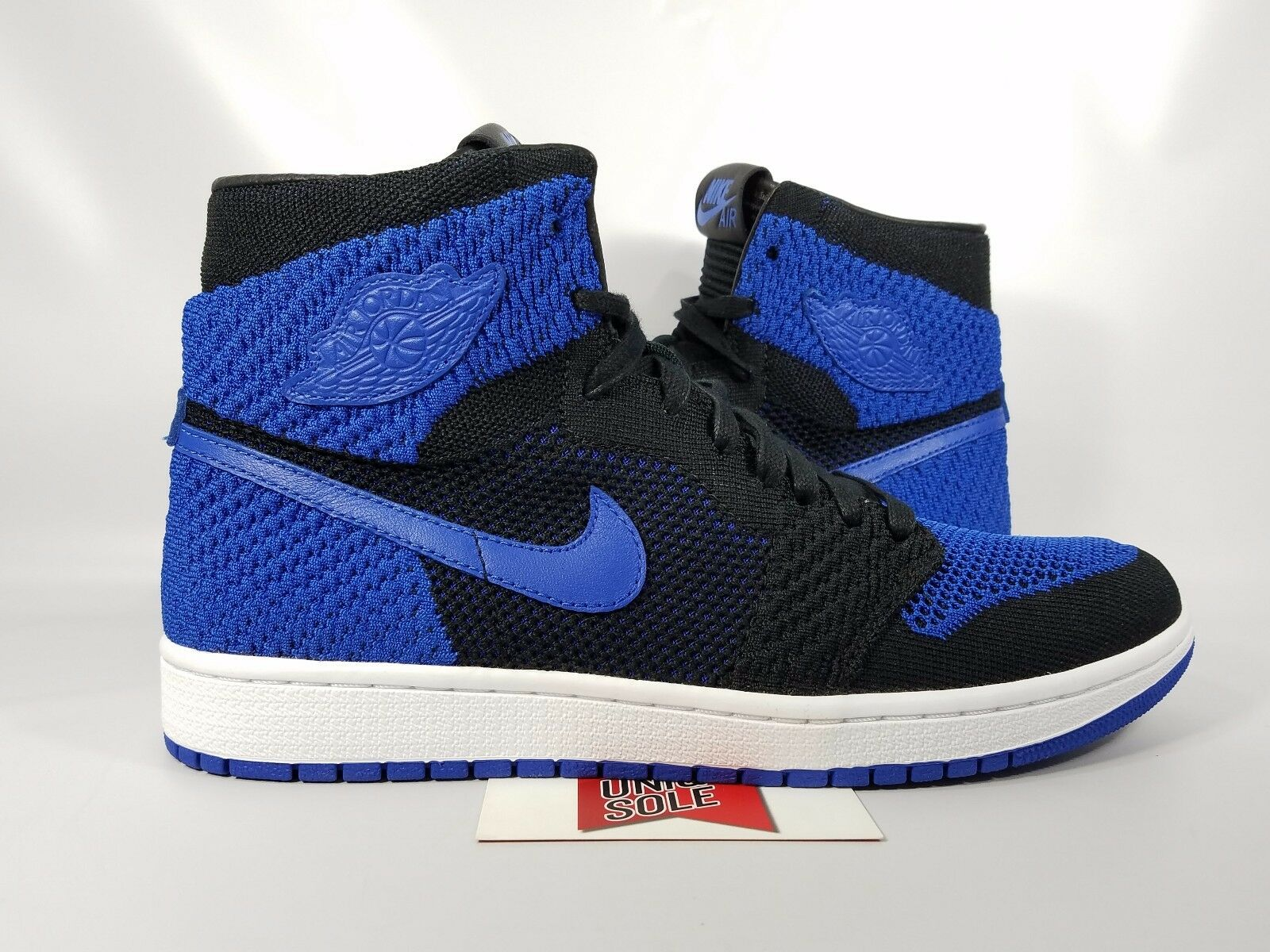 a7027da3413b42 Nike Air Jordan 1 Retro High Flyknit Mens Basketball Shoes 10 Black ...