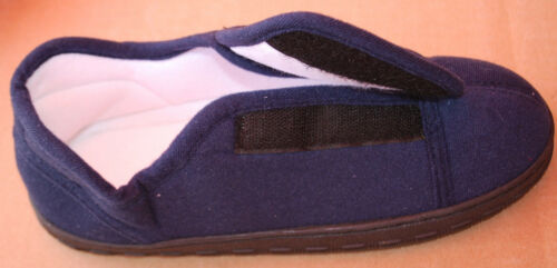 #S6339 UNISEX Navy Blue Memory Foam Slippers In Assorted Sizes ADULT