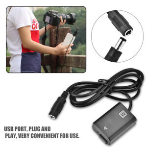 NP-FW50-USB-Dummy-Battery-Adapter-Full-Decode-w-Cable-for-Sony-A6300-A5000-gbd