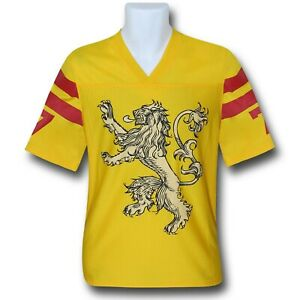 Details about Game of Thrones Lannister Football Jersey Yellow
