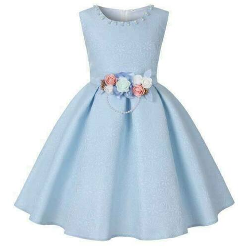 Flower formal party tutu baby bridesmaid girl princess dress kid dresses wedding