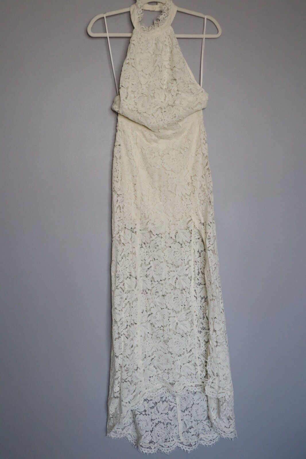 New Jen's Pirate Booty Booty Booty Limited Edition ivory Lace Halter Dress M 6b3210