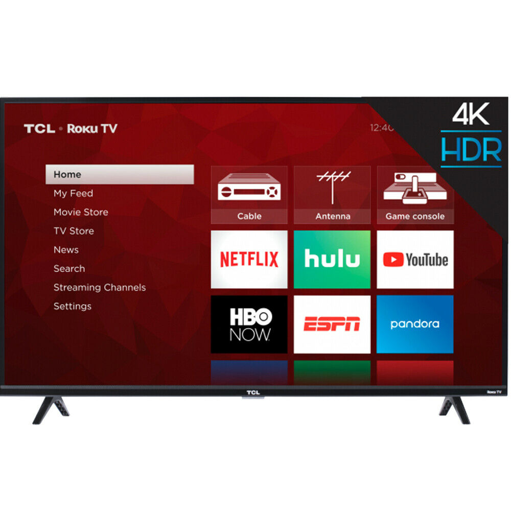 TCL 50S425 50-Inch Roku 4K Ultra HD LED Wi-Fi Smart TV with Remote 2019