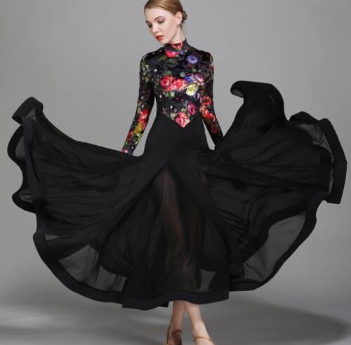 2017 NEW Ballroom Competition Dance Dress Modern Waltz Standard Dress #1731