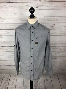 G-STAR-RAW-Shirt-Size-Medium-Grey-Great-Condition-Men-s