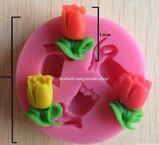 Very Very Tiny Rose Fondant Gumpaste Clay Silicone Mold Molder