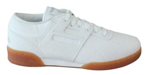 Reebok X Solebox Workout Low Clean Baskets Homme à Lacets Chaussures Blanc BS7684 U110