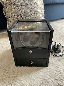 Citizen Watch Winder - Alligator  Faux Leather - Two Watch With Jewelry Draw -NR