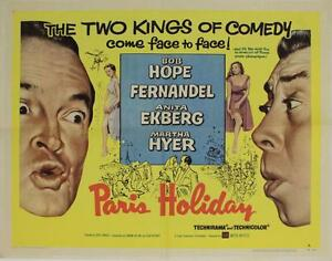 Paris-Holiday-1958-Original-Half-Sheet-22x28-034-Bob-Hope