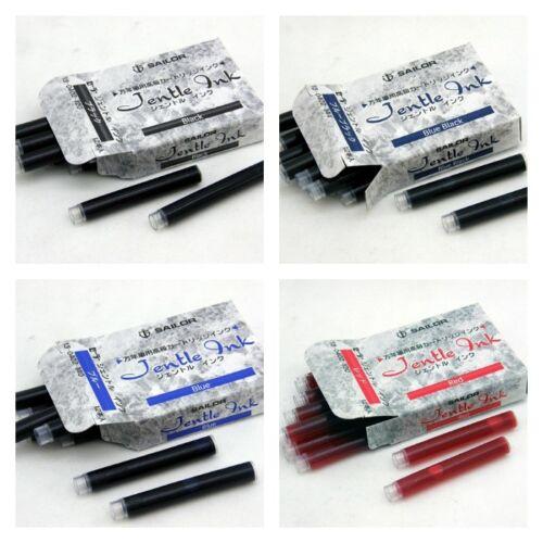 Sailor Fountain Pen Jentle Ink Cartridge Refills 12 Pack Red 13-0402-130