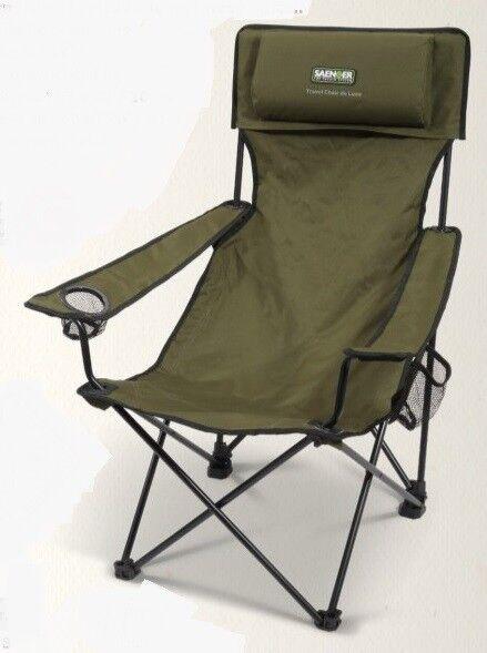 Saenger Folding Travel Chair Deluxe NEW Fishing Lightweight Folding Chair