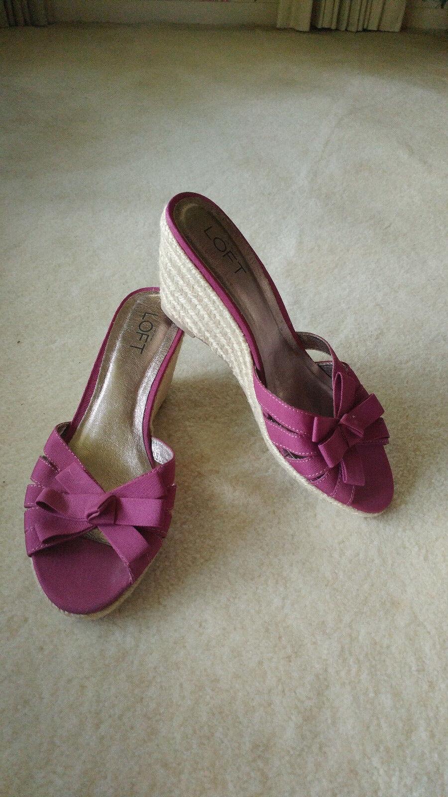 ANN TAYLOR LOFT  Size Sandals 8 M Purple Wedge Sandals Size Rope Heels 616c72