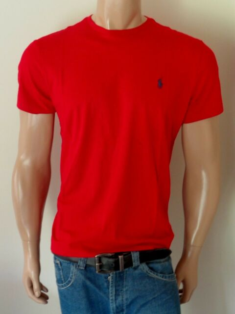 50eb589f1 Polo Ralph Lauren Crew-neck T-shirt Classic Fit Red XL for sale ...