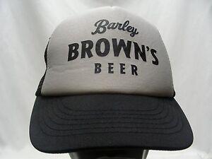 364f3034634 BARLEY BROWN S BEER - TRUCKER STYLE ADJUSTABLE SNAPBACK BALL CAP HAT ...