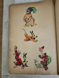 1930-039-s-Disney-Scrap-Book-Hand-Drawings-Tracings-and-Cut-Out-all-pre-1939