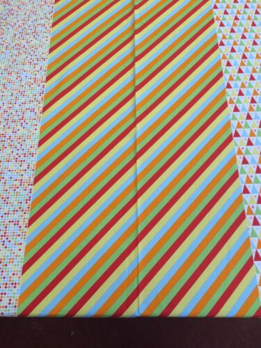 Multi Star Under The Big Top Benartex Stripes Dots Triangles
