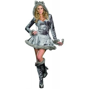 Image is loading Wolf-Costume-Adult-Sexy-Big-Bad-Wolf-Halloween-  sc 1 st  eBay & Wolf Costume Adult Sexy Big Bad Wolf Halloween Fancy Dress   eBay