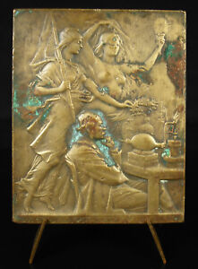 Medal-Marcellin-Berthelot-Allegory-Truth-Chaplain-Chemistry-Nude-Woman-Medal